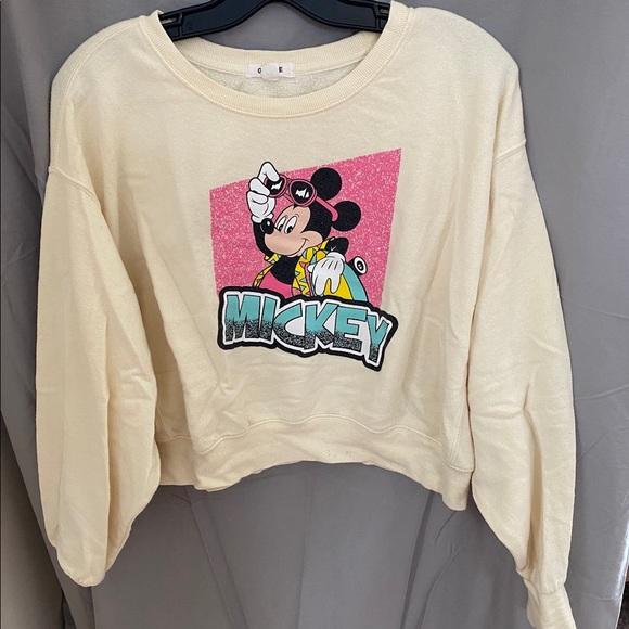 Disney Mickey Mouse crop crew neck Size L